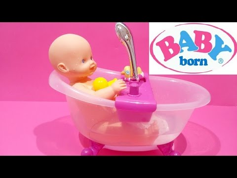 Baby Born Doll ❤ Lovely Doll Bath Tub Set Water Shower For Kids Worldwide