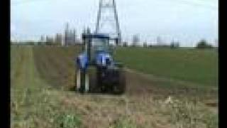 Behind the wheel of the New Holland T6080