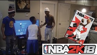 I BROKE MY LIL BROTHER 2K18 GAME!! (HE CRIES)