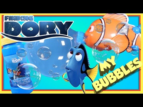 Finding Dory Nemo Bubble Wand And Bubbles - Nemo has Fun Blowing the Biggest Bubble in The World