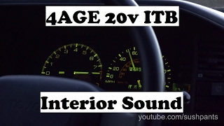 4AGE 20v Blacktop - Interior Sound With ITB's