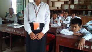 Khmer student speaks English.