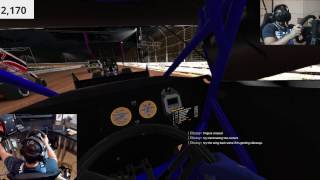 IRACING 410 SPRINT CARS+VR+MOTION EPIC Finish!