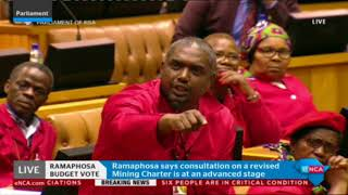EFF kicked out of Parliament during Presidency budget vote