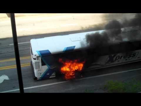 Atlanta Metro Bus Fire.MP4