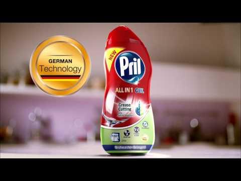 Pril All in 1 Gel Dishwasher Detergent