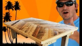 How to Build a Coffee Table out of Pallet Wood: Project 5 Paint/Distress/Antique Furniture