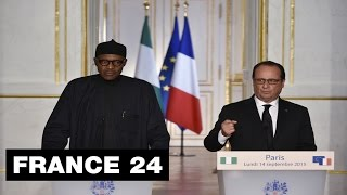 Nigeria president Buhari in France to seek closer economic and security partnerships
