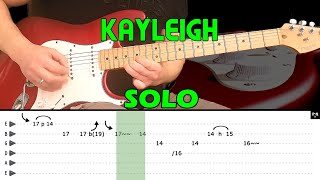 KAYLEIGH - Guitar solo lesson (with tabs) - Marillion