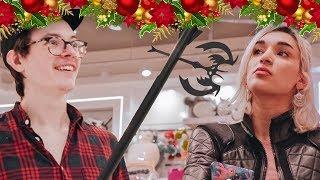 Christmas shopping for girls.