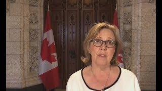 Elizabeth May, MP, leader of Canadian Green Party supports Free Iran 2018 gathering