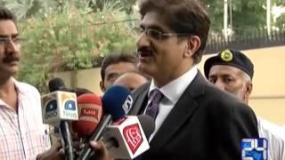 24 Report : Murad Ali shah meets CM Sindh Qaim Ali Shah