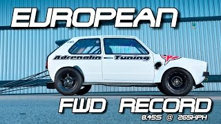 NEW European FWD Record! VW Golf Mk1 DSG from Adrenalin Tuning VW Action Santa Pod 2016