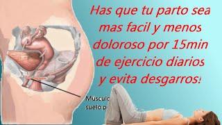 Ejercicios para para facilitar el parto natural y evitar desgarros #embarazo