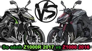 Z1000 và Z1000R 2017 mới có gì khác biệt so với Z1000 2016