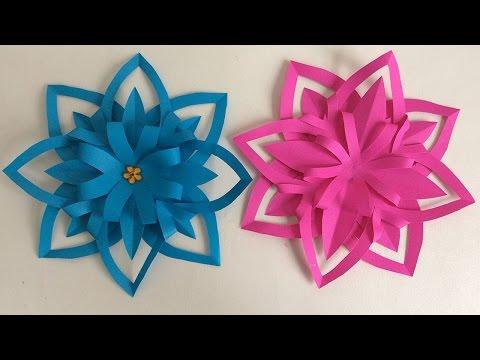 FLORES DE PAPEL. MANUALIDADES DE PAPEL.  Paper flower.