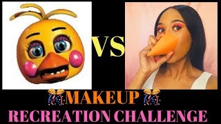 Toy Chica Five Night's At Freddy's Make Up Tutorial (Realistic)