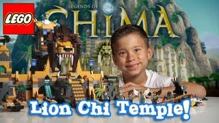 LION CHI TEMPLE - LEGO Legends of Chima Set 70010 Time-lapse Build, Unboxing & Review by EvanTubeHD