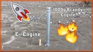 1000g ROCKET ENGINE EXPLODES