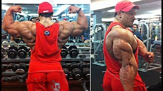 Roelly Winklaar Trains At Oxygen Gym One Week Before the 2014 Olympia