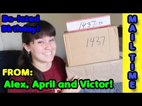 MAIL TIME :: Be-lated Birthday Gifts!