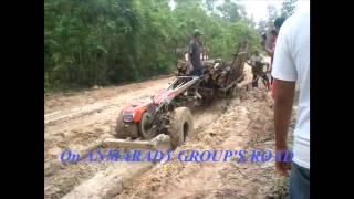 kubota test on muddy soil in forest