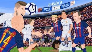 Parodia animada del Barcelona 1 - 1 Real Madrid 3/12/2016