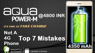 Intex Aqua Power M Full Review | 4G Phone Really ? Top 7 Mistakes ,Think before you buy