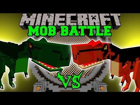T-REX VS ALOSAURUS - Minecraft Mob Battles - OreSpawn Dinosaurs Mod Battle