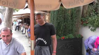 Russell Westbrook having lunch in Beverly Hills