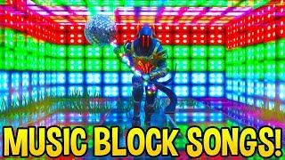 *AMAZING* Fortnite SONG CREATIONS Using Music Blocks..! (Part 2)