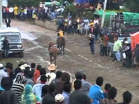 Alotepec 2011. 3 de Mayo Carreras de Caballos y Jaripeo Profesional