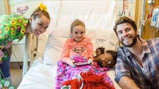 Miley Cyrus and Liam Hemsworth Visit Julia Davidson at Rady Children's Hospital