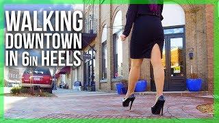 WALKING in Black Patent Platform Heels