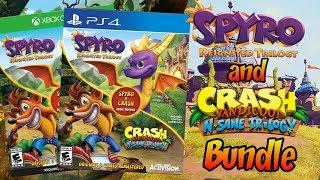 Crash Bandicoot and Spyro the Dragon Trilogy Bundle Revealed!