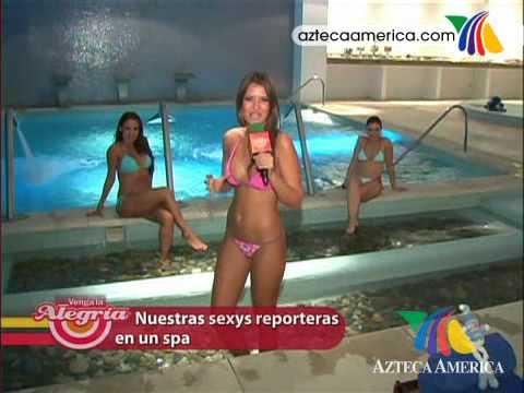 ¡Las reporteras Sexys de Venga la alegria visitan spa