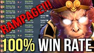 100% Win Rate! Best Monkey King Mid vs Invoker Rampage by OG.Ana 9k MMR Dota 2