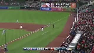 STEVE PEARCE INSANE DIVING CATCH IN STANDS