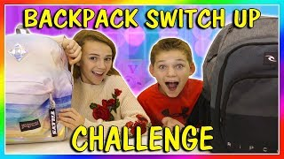 BACKPACK SWITCH UP CHALLENGE | We Are The Davises