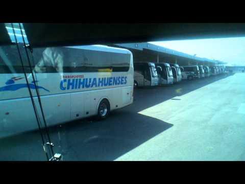 Chihuahuenses Irizar PB Llegando a CD Juarez