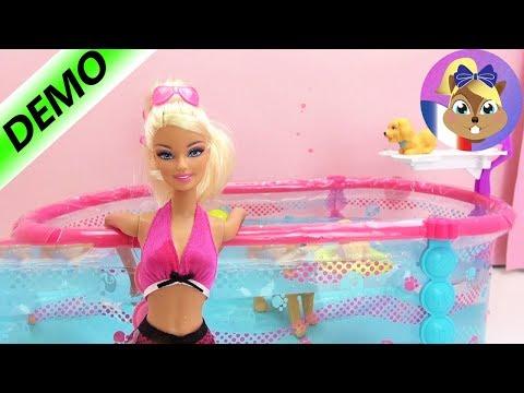 Piscine Barbie Fran Ais D Mo Barbie Swimming Pool Avec