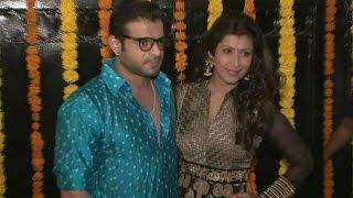 Karan Patel With Wife Ankita Bhargava At Ekta Kapoor's Diwali Celebration Party 2016