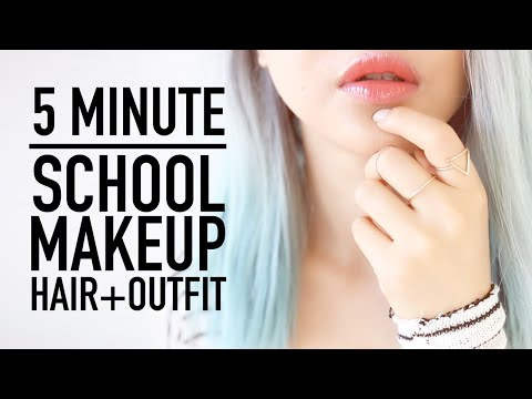 Xxx Mp4 Late For School Routine ♥ 5 Minute Makeup Hairstyle Clothes Outfit Tips ♥ Back To School ♥ Wengie 3gp Sex