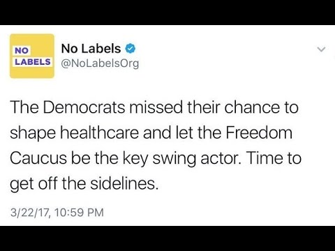 No Labels Shows No Intelligence With Healthcare Tweet