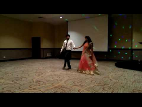 Indian couple dance at reception