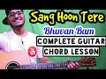 Sang Hoon Tere Bhuvan Bam Complete Easy Guitar Lesson Four Chords Only Begginer Guitar Tutorial 3gp mp4 video