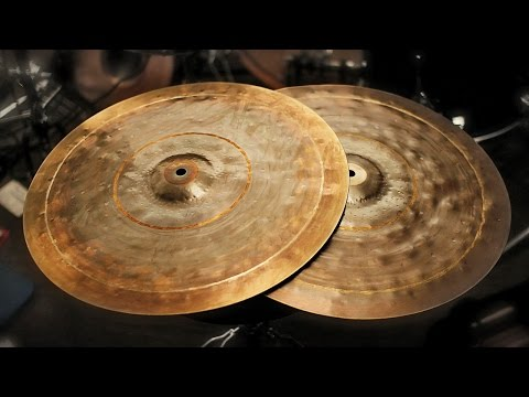 18 Inch Black Body Hi Hats - Hand hammered - Lance Campeau - The Cymbal Project