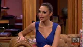 """Gal Gadot - INTERVIEW - The new """"Wonder Woman"""" - Fast & Furious 6 - HUFFINGTON POST HUFFPOST LIVE"""