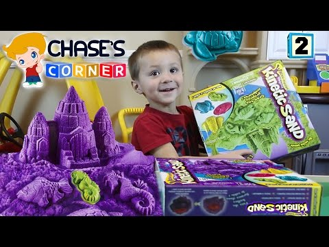Chase's Corner: Kinetic Sand Fun! Review & Unboxing w/ Mom (#2)