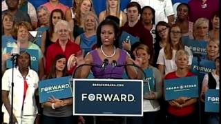 First lady Michelle Obama's campaign speech